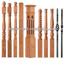 solid wood stair newel posts