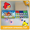 Newest Cartoon Laser Spinning Top Design For Child EN71,EN62115