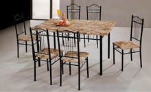 cheap wooden dining table set with four chairs in home furniture