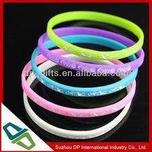 logo printed 5mm thin silicone wristband