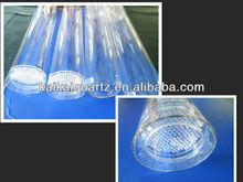 Clear quartz silica tube with fused porous filter discs