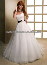 Sweetheart appliqued free shipping 2013 new arrival ball gown wedding dresses CWFaw5403