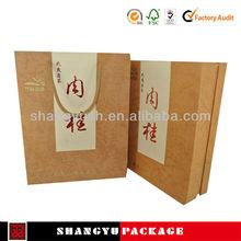Moda y lindo caja de regalo de papel, Boda certificado de la muestra, Artesanía con tubos de cartón