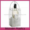 De plástico transparente de hielo, Claro wine cooler bag