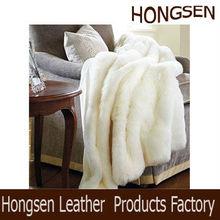 HSTH048 PV Plush Engraving Fur Super Soft Luxury Faux Fur Throw