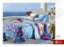100% cotton sateen reactive printing bedding set duvet cover