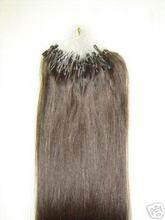 "100% Human Hair Extension #1B Easy loopW Micro Ring 20"""