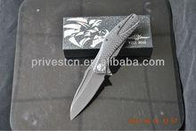 Micarta handle folding hunting knife blade blanks/9crbadle