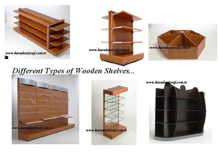 De madera de la pared y la isla de estantes estanter as - Estantes de madera para pared ...