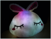 flashing plush toy flashing soft toy with led lights