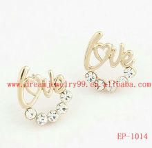 fancy Valentine's Day Gift love stud earrings