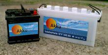 Akku solar 50 and 140 Solar batteries
