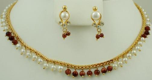 Pearl & Sandstone Necklaces