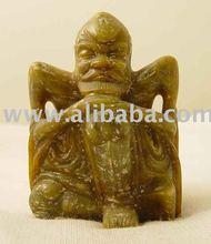 Vintage Hongshan Culture Nephrite Jade Shaman Carving Copy