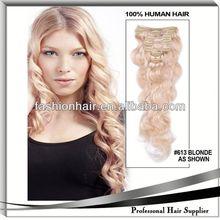2014 Factory price fashion Hair Extension Clip Hair Extension wig virgin malaysian humain hair for gift