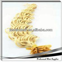 2014 China most fashionable U-Tip/Nail Hair Extension fashion wig virgin remy single drawn hair