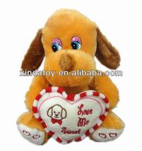 Stock valentine's day Stuffed electronic dog toy
