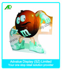 Eye-catching advertisement for 4C offset printing chocolate carton standee