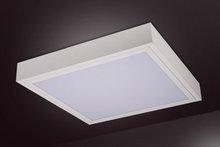 Surface fluorescent lighting fixtures