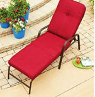 OUTDOOR METAL STEEL FRAME RED CHAISE LOUNGE CHAIR BRAND NEW