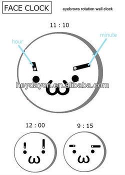 eyebrows rolling--face clock (HD-6005E)