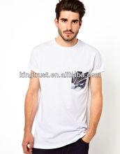 2013 Hot Sale Men's fashion printing pocket logo t-shirts