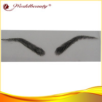 stocks real human hair lace base eyebrows brown