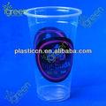 De dibujos animados de plástico taza/té de la burbuja de la copa