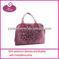 2013 moda malha bolsa com flor rosa