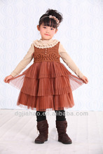 Frill skirt design kids beautiful model patterns for girl dresses