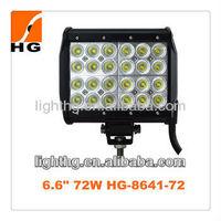 HG-8641-72, 7inch led off road car 72w , square rows spot beam cree led lamp bar