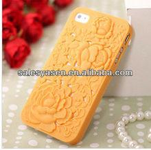 3D PC rose design mobile phone plastic case for iphone 5