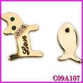 peixe anf cão moda jóias brincos para as meninas