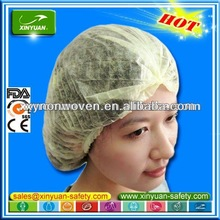 disposable TNT PP Mob Cap/Clip cap for hygiene rules/food industry/factory