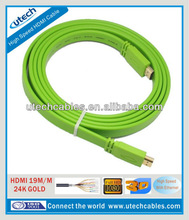 1.8m HDMI Cable Flat with Ethernet Full HD 1080P 3D