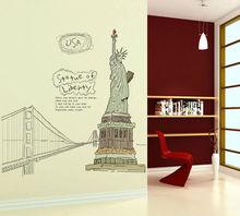 Zy807 estatua de la libertad de la pared pegatinas casa decorc/decoración de hogar/extraíbles de la pared calcomanías 2013 nuevo