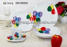 zhk842 beautiful designs tableware set porcelain ,porcelain dinnerware tableware set with high quality