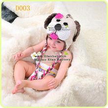 Sale ! lovely baby crochet beanie handmade earflap puppy handmade crochet cartoon hat
