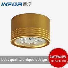 9w golden high luminous downlight in downlights