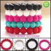 Popular Surprising Colorful Teething Bracelet Jewelry/Mass Production Silicone Bracelet