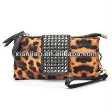 2013 Fashion Casual Retro Rivet Leopard Wallet/Purses/Handbag (BHX027)