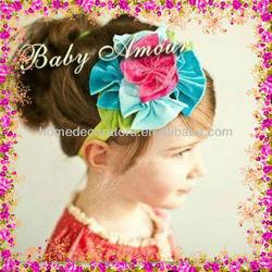Baby Headband Infant girls Flower Headbands Shabby chiffon flower Newborn toddler shabby chic flower headband