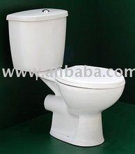 Ceramic two-piece toilet, white