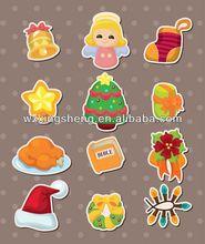 2013 Cartoon fashion promotion pvc sticker christmas sticker holograms