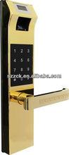User friendly biometric deadbolt waterproof & dust tight password fingerprint lock