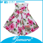 New model sleeveless cotton girl western style flower dress