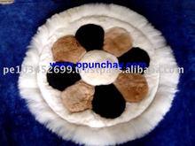 "Alpaca Pillow Case / Alpaca Rug 20"" Peru"