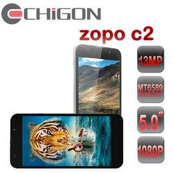 "cheap zopo c2 5.0"" Full HD Screen 1920 x 1080 pixels 1.2Ghz Quad Cores MTK6589 3G Smart Phone"