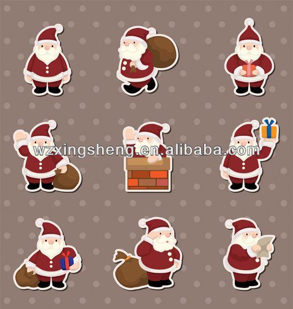 2013 Wholesale fashion promotion pvc sticker christmas sticker stickers winx