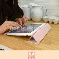leather for ipad case,OEM design printed custom case for ipad4